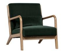 Fotel MARK velvet - zielony
