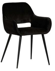 Zestaw 2 krzeseł JELLE velvet - czarne