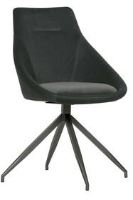 Zestaw 2 krzeseł RESA velvet - antracytowe