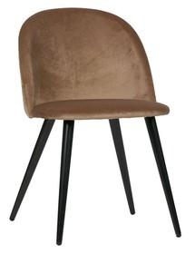 Zestaw 2 krzeseł FAY velvet - jasnobrązowe