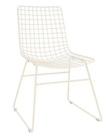 Krzesło metalowe WIRE - kremowe
