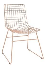 Krzesło metalowe WIRE - brzoskwiniowe