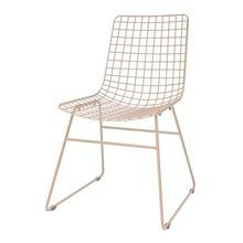 Krzesło metalowe WIRE - nude