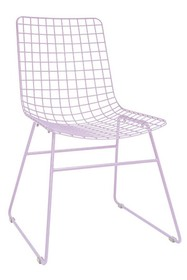 Krzesło metalowe WIRE - liliowe