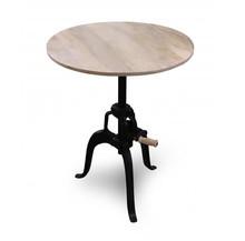 Stół okrągły loft ,drewniany   80x80x76
