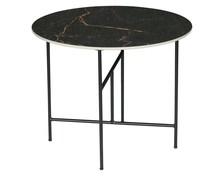 Stolik VIDA z marmurowym blatem 48x60 - czarny