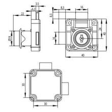 ZAMEK X850 FI19X22MM/CK/PRAWY/2XRYGIEL - Siso