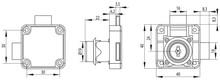 ZAMEK X850 FI19X22MM/CK/LEWY/2XRYGIEL - Siso