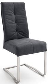 Krzesło na płozie SALVA - antik czarny