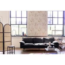 Sofa Retro 4-osobowa skórzana w kolorze czarnym