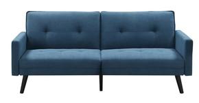 Sofa 4-osobowa RETRO skórzana - czarny