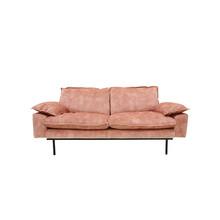 Sofa 2-osobowa RETRO aksamitna - różowy