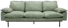 Sofa 3-osobowa RETRO skórzana - miętowy