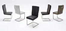 Krzesło LUNA, szara skóra ekologiczna
