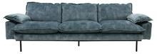 Sofa 4-osobowa RETRO velvet - niebieski