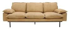 Sofa Retro 3-osobowa skórzana w kolorze naturalnym