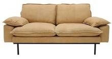 Sofa 2-osobowa RETRO skórzana - naturalny