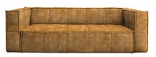Sofa Cube 4-osobowa velvet musztardowa
