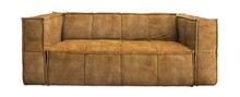 Sofa CUBE 3-osobowa velvet - musztardowa