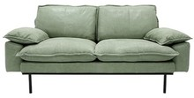 Sofa 2-osobowa RETRO skórzana - miętowy