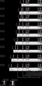 Prowadnica MOVENTO z BLUMOTION S 766H dł.50cm Wysuw 100% 60kg - Blum