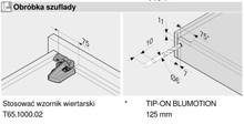 Prowadnica MOVENTO z BLUMOTION S 760H dł.35cm Wysuw 100% 40kg - Blum