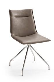 Krzesło ALESSIA A, skóra ekologiczna w kolorze truflowym