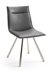Krzesło ALESSIA A, szara skóra ekologiczna
