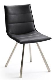 Krzesło ALESSIA B, czarna skóra ekologiczna