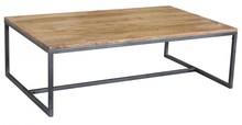 Stolik kawowy drewno metal, lotf