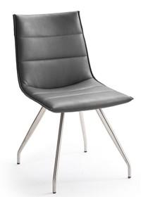 Krzesło ALESSIA B, szara skóra ekologiczna