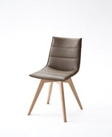 Krzesło ALESSIA B, skóra ekologiczna w kolorze truflowym