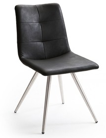 Krzesło ALESSIA C, czarna skóra ekologiczna