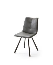 Krzesło ALESSIA C, szara skóra ekologiczna