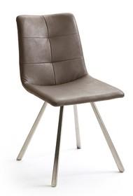 Krzesło ALESSIA C, skóra ekologiczna w kolorze truflowym