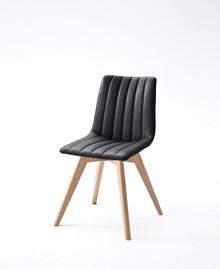 Krzesło ALESSIA D, czarna skóra ekologiczna