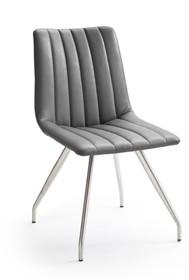 Krzesło ALESSIA D, szara skóra ekologiczna