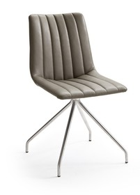 Krzesło ALESSIA D, skóra ekologiczna w kolorze truflowym