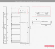 MAXIMA EVO MAXIMA EVO II Cargo Maxi Boczne 200 Prawe Metal/Tworzywo Chrom/Biały - Rejs