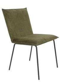 Krzesło FLOKE velvet - oliwkowy