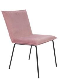 Krzesło FLOKE velvet - różowe