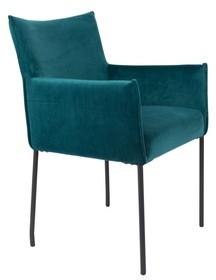 Fotel DION velvet - niebieski