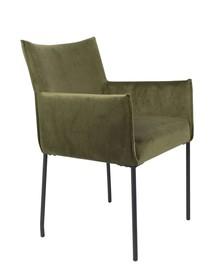 Fotel DION velvet - oliwkowy
