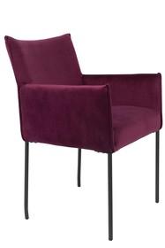 Fotel DION velvet - bordowy