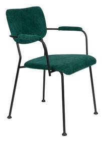 Krzesło z podłokietnikami BENSON - zielony