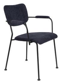 Krzesło z podłokietnikami BENSON - granatowy