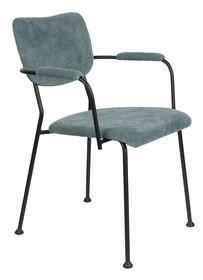 Krzesło z podłokietnikami BENSON - szaro-niebieski