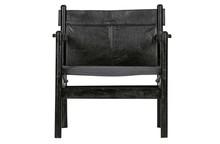 Fotel CHILL skórzany - czarny