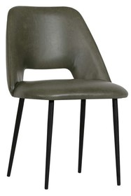 Zestaw 2 krzeseł FIFTIES - oliwkowy zielony