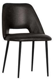 Zestaw 2 krzeseł FIFTIES - czarne